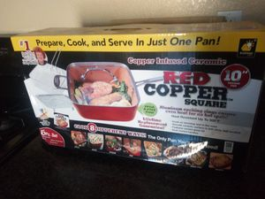Red copper square pan for Sale in Henderson, NV
