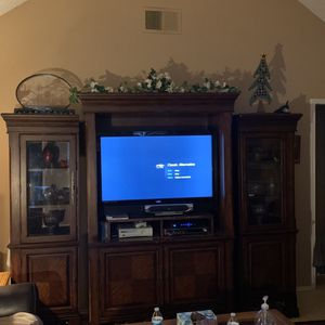 Full Mohagany Entertainment Center / Multi Compartment for Sale in Plano, TX