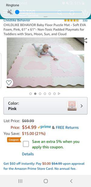 Childlike Behavior Baby Floor Puzzle Mat for Sale in Clovis, CA