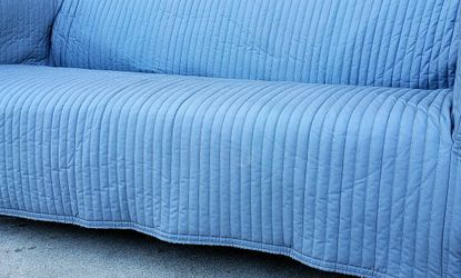 EXCELLENT CONDITION! Ikea Couch Sofa 2-Seater Loveseat w/ Gray QUILTED Cover INCLUDED for Sale in Monterey Park,  CA