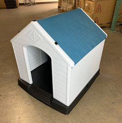 """(NEW) $75 Plastic Dog House Medium Pet Indoor Outdoor All Weather Shelter Cage Kennel 35x31x32"""" for Sale in Whittier,  CA"""