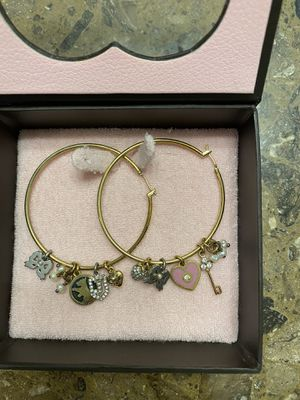Juicy Couture hoops w/charms for Sale in Burleson, TX