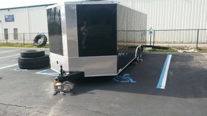 20' Enclosed Vnose Aluminum Trailer with 5200lb Axles for Sale in Great Neck, NY