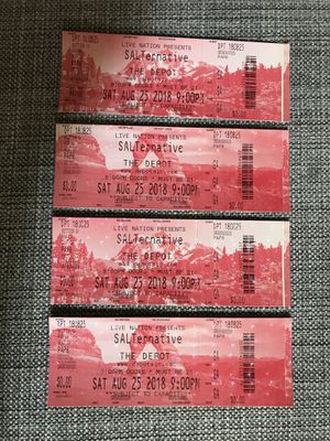 Salternative Concert tickets for Sale in Salt Lake City, UT