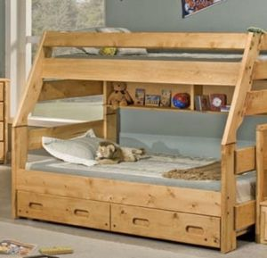 Twin over Full Bunkbed with Extras for Sale in Orting, WA