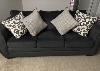 Fabric Sofa with Accent Pillows for Sale in Sterling Heights,  MI