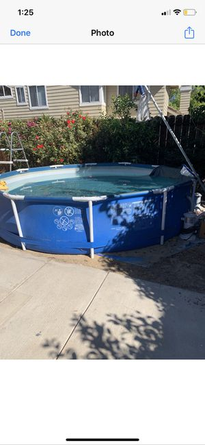 Big pool with filter and water pump for Sale in Tracy, CA