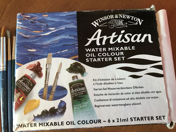 Oil Color Paint Starter Sety and Paint Brush Bundle
