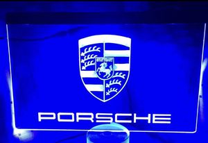 Porsche 3D Engraved LED Neon Light Sign Wall Decor for Sale in Akron, OH