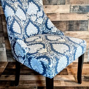 Beautiful Blue And White And Gray Accent Chair Like New for Sale in Beaverton, OR