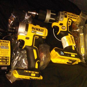 """BRAND NEW. Dewalt Dcd797D2 1/2"""" 20v Cordless Hammer Drill. With Impact Drill As Bonus NOT SELLING FOR 100$ for Sale in Renton, WA"""
