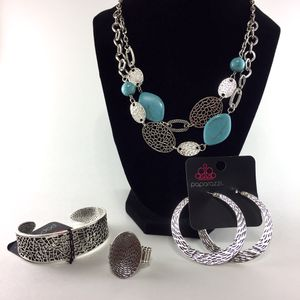 Paparazzi Accessories Fiercely 5th Avenue- Fashion Fix (necklace earrings bracelet ring) for Sale in Dublin, GA