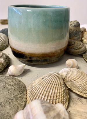 Unique handmade ocean colors ceramic plant pot for Sale in Vancouver, WA