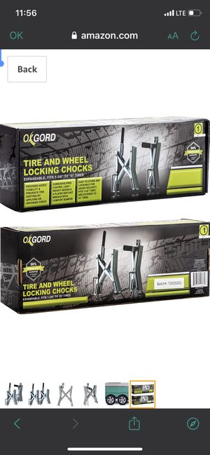 OxGord X-Chock Wheel-Stabilizer for RV, Trailer, Camper - Universal Quick-Lock Tire-Stop for Dual Axle Vehicles - Fits up to 6 Inches (Set of 2) for Sale in Los Angeles, CA