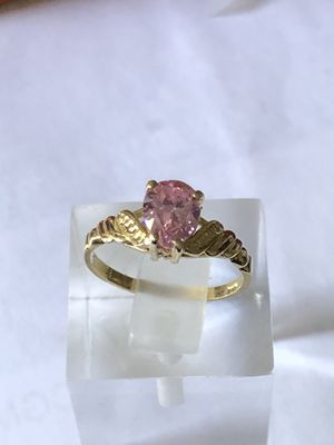 10k gold ring, pear shaped pink stone,1.92 grams,size 6.25,please look at all pictures for more details for Sale in Aurora, IL