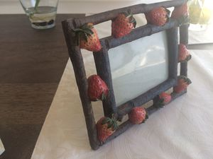 Strawberry rustic look picture frame for Sale in Merrick, NY