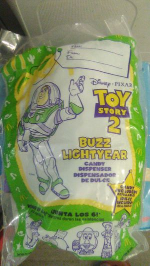 1999 McDonald's collectible Toy Story 2 Buzz Lightyear candy dispenser for Sale in Buena Park, CA