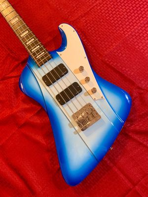 DBZ Hailfire Bass Guitar Blue Burst used but in good condition for Sale in Richmond, VA