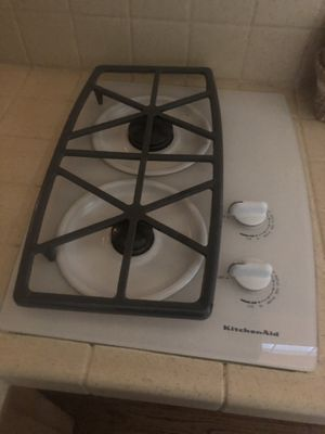 Kitchen Aid 2 glass gas stovetop for Sale in Spanish Flat, CA