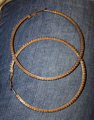 Gold Hoop Earrings With Diamonds for Sale in Columbus, OH