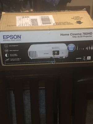 EPSON HOME CINEMA 760HD 720P 3LCD PROJECTOR for Sale in Akron, OH