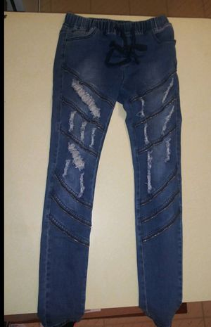 New jeans XL 1 for $20 2 for $30 or 3 for $40 New camo jacket size XL $20 New womans clothes new too for Sale in Oak Lawn, IL