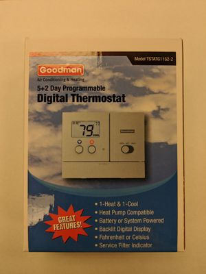 Goodman TSTATG1152-2 Thermostat 1H/1C for Sale in Columbus, OH