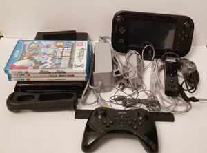 Nintendo Wii U Deluxe 32GB Black System Console Bundle ALL WORKS for Sale in Milton, PA