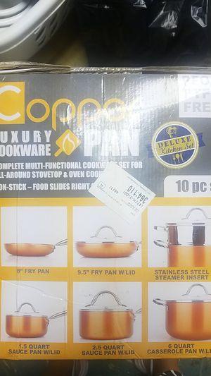 Copper cookware 10 pc set for Sale in Oak Park, MI
