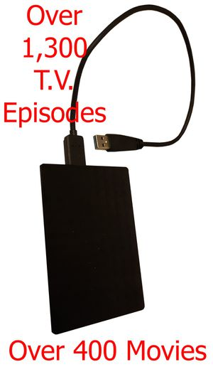 Over 400 Movies and over 1,300 Original TV Show Episodes Collections From Blu-Ray & DVDs on a 1TB. USB Portable Drive for Sale in Pico Rivera, CA