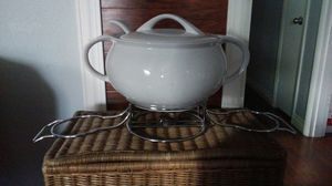 Soup serving dish with chafing for Sale in Keizer, OR