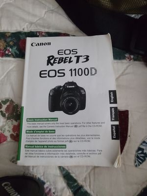 Cannon Rebel T3 EOS 1100D for Sale in Santee, CA