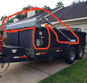 Dump trailer Manual Tarp System>>>Sistema de lona manual 7x14x4 for Sale in Houston, TX