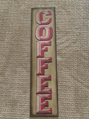 """Decorative metal """"coffee"""" wall art, 30""""x7""""—Urbana, MD for Sale in Frederick, MD"""