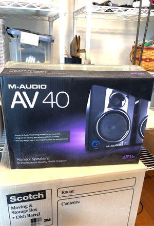 M-Audio AV 40 Powered Monitor Speakers. for Sale in Kenmore, WA
