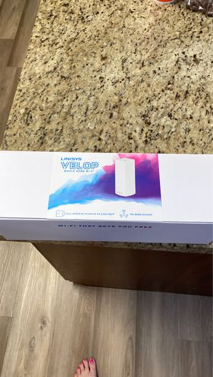 Linksys Velop tri band mesh router AC2200 whole home full speed WIFI for Sale in North Lauderdale, FL