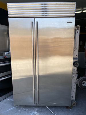 "STAINLESS STEEL48"" SIDE BY SIDE SUB ZERO BUILT IN REFRIGERATOR for Sale in Rancho Palos Verdes, CA"