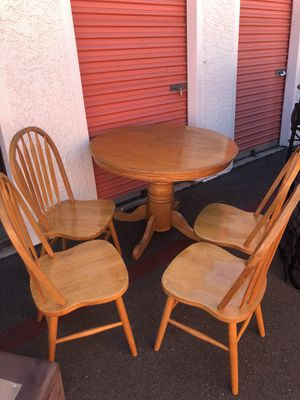 Wood table and four (4) chairs for Sale in San Diego, CA