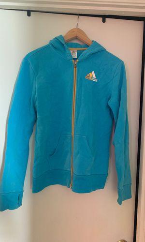 Aqua blue adidas zip hoodie for Sale in Upper Marlboro, MD