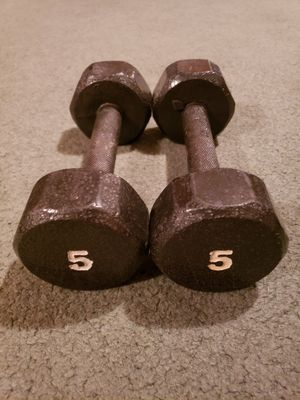 5 lbs dumbbells x 2 for Sale in Orem, UT