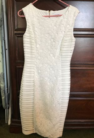 Cream White Calvin Klein Dress in a Size 4 for Sale in Highland, CA