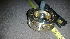4-5 Daiwa Pole salmon steelhead fly fishing rod gold reel mint for Sale in Gig Harbor, WA