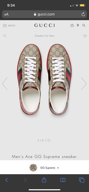 """Gucci Tennis shoes """"ACE Supreme sneaker"""" for Sale in Kissimmee, FL"""