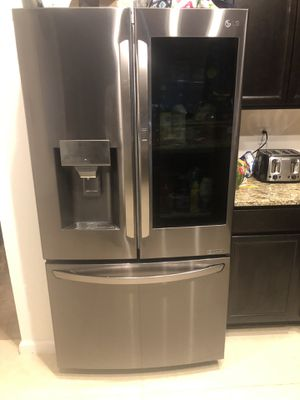 LG - French InstaView Door-in-Door Counter-Depth Smart Wi-Fi Enabled Refrigerator - PrintProof Black Stainless Steel for Sale in Green Cove Springs, FL