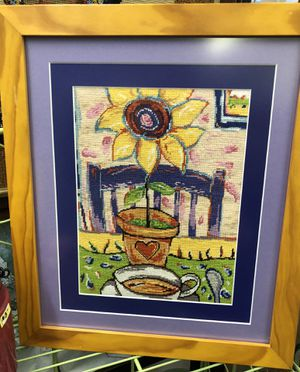 Beautifully done and vibrant needlepoint for Sale in Frostproof, FL