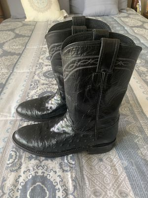 Full quill Justin LADIES roper ostrich boots sz 7 in excellent condition for Sale in Riverside, CA