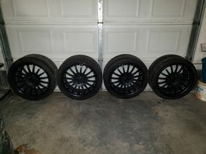 Carlsson Forged Aluminum 2 Piece 19 Inch Rims Wheels Tires for Sale in Taunton, MA