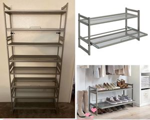 2-layer stackable shoes storage rack for Sale in Ontario, CA