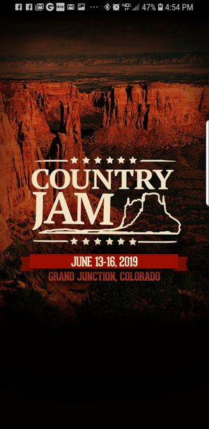 2, 4 day Country Jam Passes w/ camp access for Sale in Arvada, CO