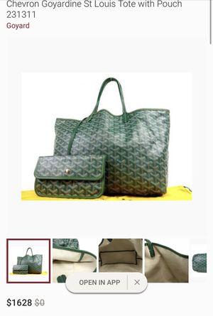 *100% Authentic Goyard Paris Chevron St. Louis Pouch* for Sale in Adelphi, MD